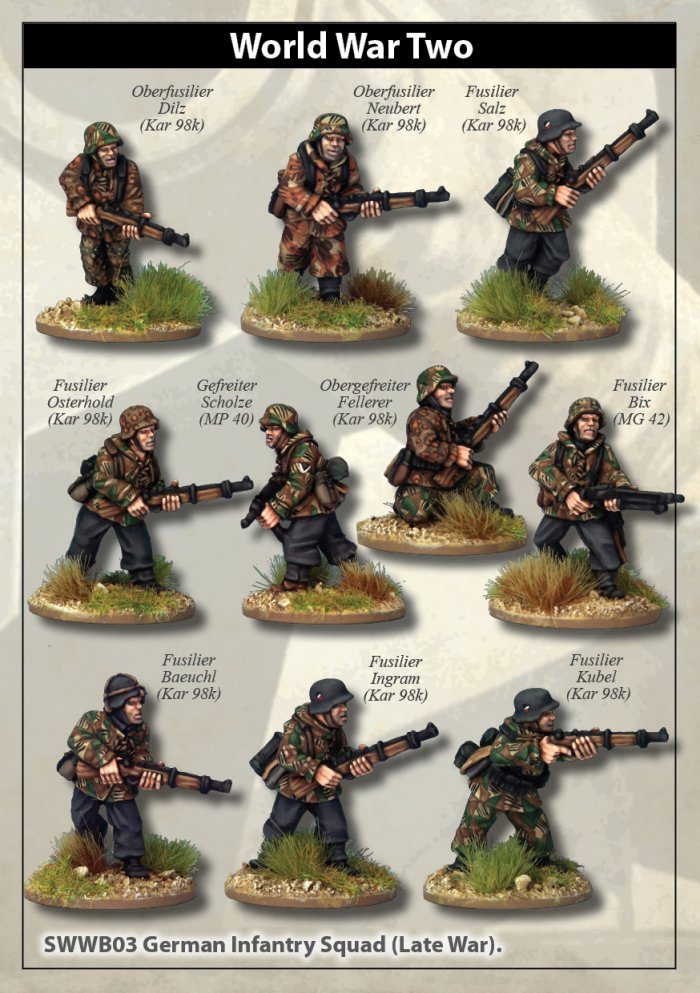 Late War German Infantry Section I (in smocks)