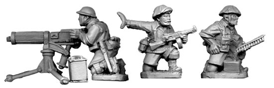 British 8th Army Vickers MMG Team (1 gun and 3 crew)