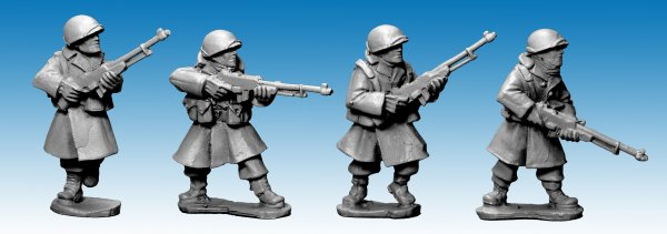 US Infantry in Greatcoats w B.A.R's