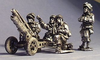 US Airborne 75mm Howitzer and Crew
