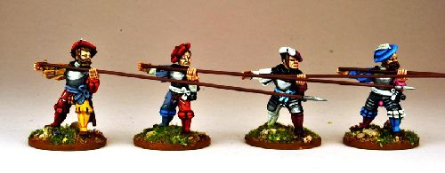 Landsknecht Armoured Pikemen Attacking