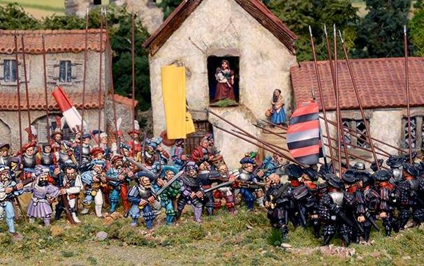 Landsknecht Regiment Advancing