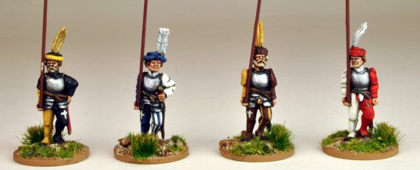 Swiss Pikemen Marching (Armoured)