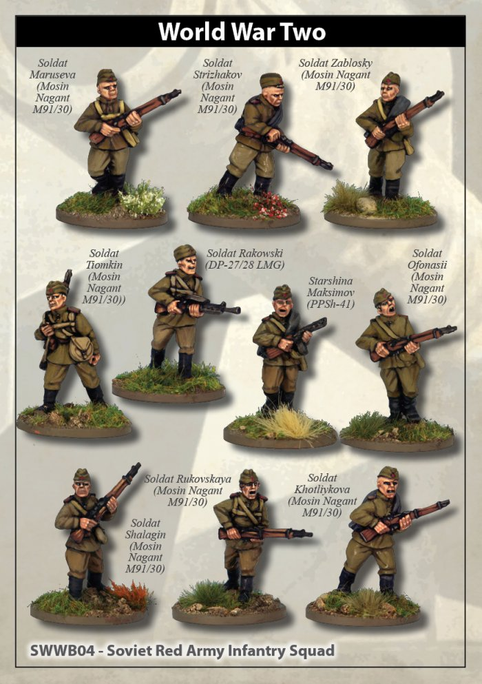 Soviet Red Army Squad